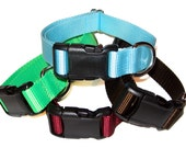 "Solid Nylon Large Dog Collar - Choose Your Color 1"" Dog Collar"