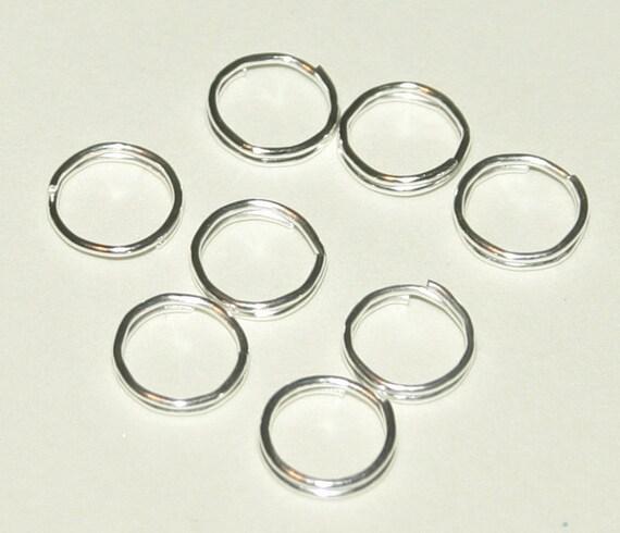 Split Rings, Bright Silver Color, 7mm, 1000 Pieces, Wholesale, Bulk