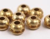 5 Raw Brass Beads, Findings (12x9 mm)  D155
