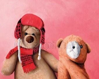 Two Bears postcard 6-pack