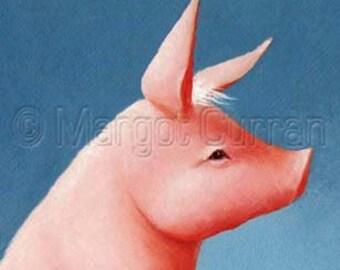 Pig postcard 6-pack