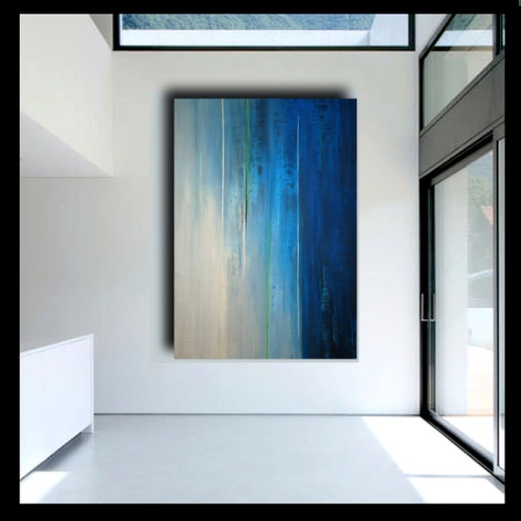 57x40 abstract painting on canvas by Elsisy. Title: Rainy night