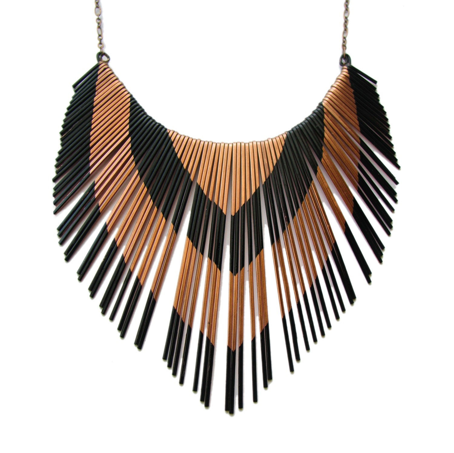 Porcupine Quill Jewelry Copper Necklace Metal ...