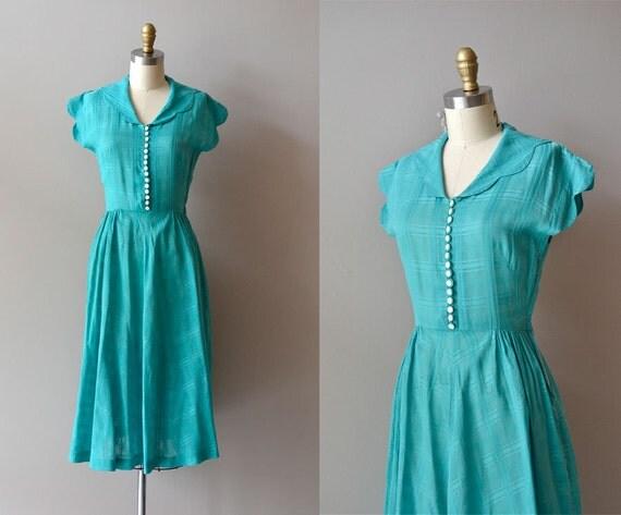 r e s e r v e d...1940s dress / 40s dress / day dress / Oceanview dress