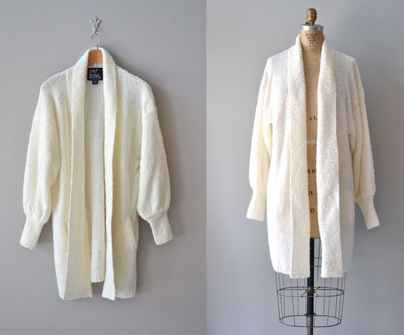 slouchy cardigan / oversized cream sweater / cream cardigan / long cardigan