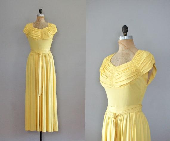 1930s dress / 30s dress / long dress / Limoncello dress