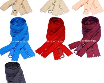 18 Inch 4.5 YKK Long Pull Handbag Zippers  Your Choice of 4 Colors (by Each) Select Color