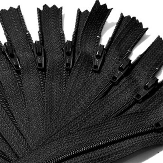 "200 YKK Zippers for the price of 100~ Crafter's Special~ Ykk # 3 Nylon Coil  BLACK zippers  ~ZipperStop Wholesale  Distributor YKK® 2""-7"""