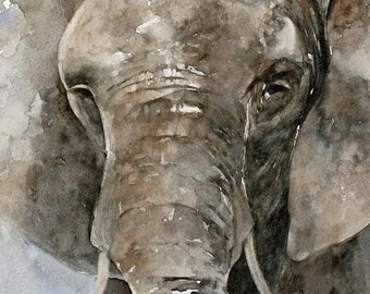 watercolor animal painting for nursery elephant painting Baby room decor Elephant Print Elephant nursery art boy room decor elephant boy