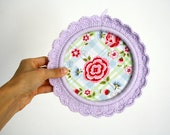 Embroidery Hoop Art / shabby chic style - Reserved for Sigal