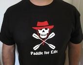 Kayak Skull Men's Paddle For Life Short SleeveT shirt Custom Made