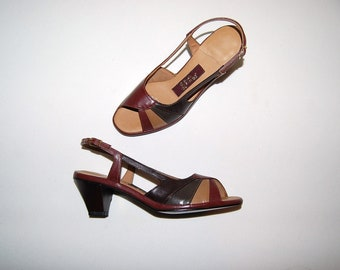 Vintage Shoes Earthtone Slingbacks