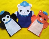 Octonauts -felt puppets- set of 3