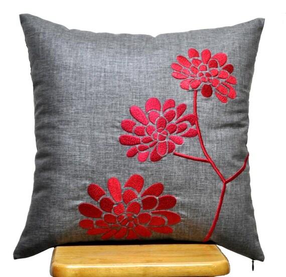 Linen Monogram Throw Pillow: Pillow Cover Decorative Throw Pillow Cover Ash Grey Linen