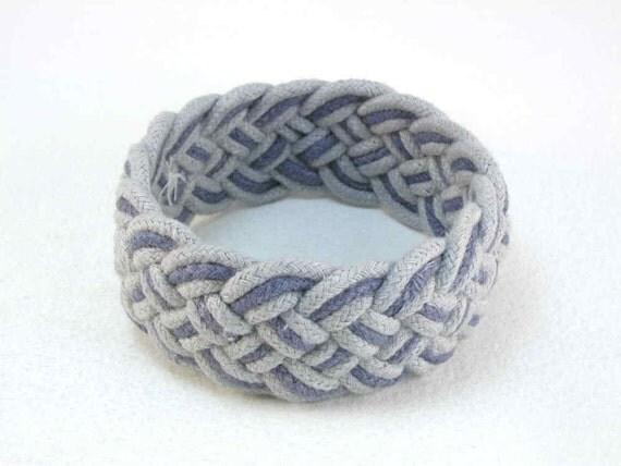 Reserved for Kelli blue and denim turks head bracelet and DIY materials 2186