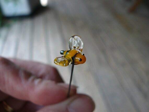 miniature bumble bee for your fairy garden or terrarium