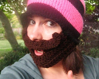 The Chick Mustache Beard Beanie - Ships Free