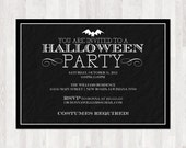 Spooky Bat Halloween Invitation