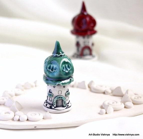 Autumn green House of tiny fairies  by studio Vishnya