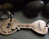 You hold the key to my Heart keychain Set