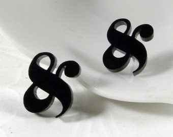 Elephant Ampersand Stud Earrings