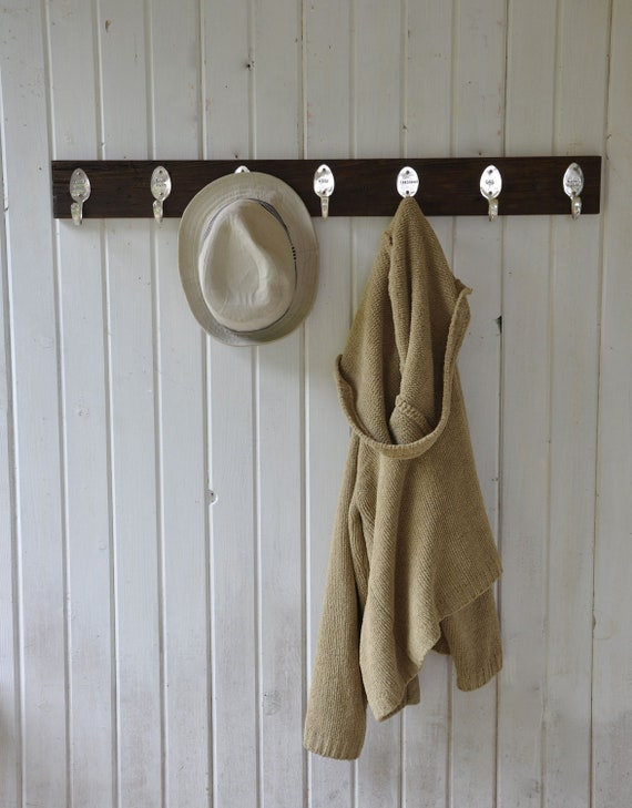 7 Personalized Spoon Hooks Coat Rack in Any Finish