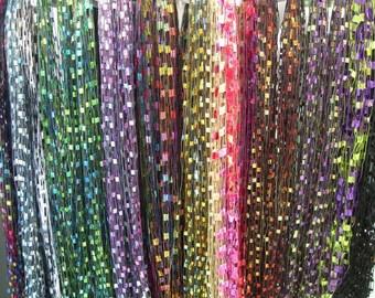 JEWEL Toned FIBER NECKLACES, Ladder Ribbon Necklace, Women's Fiber Necklace