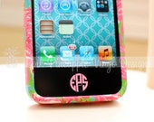 Set of Four - iPhone / iPad Home Button Custom Monogram Decals