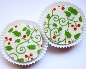 Designer HOLLY SWIRL Chocolate Covered Oreos - Christmas Gift Favor Fall Party Winter Formal Wedding