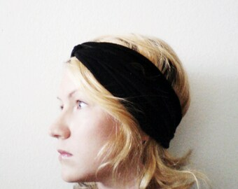 Twist Turban Headband, Solid Black, Turban Headband, Yoga headband
