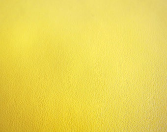 Faux Leather Yellow Fabric in Lambskin Pattern - Faux Leather Fabric By The Yard - Large Fat Quarter
