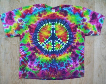 4X Tie Dye Peace Sign