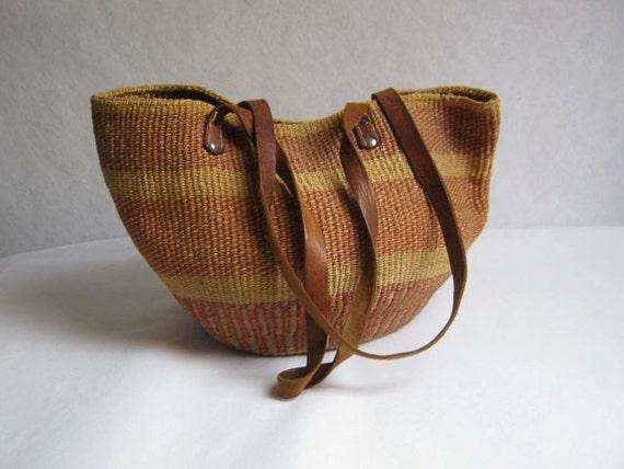 vintage woven market bag // farmers market