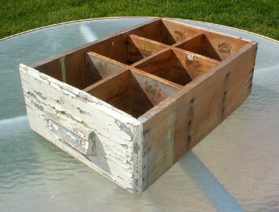 Wood Drawer Weathered Chippy Paint