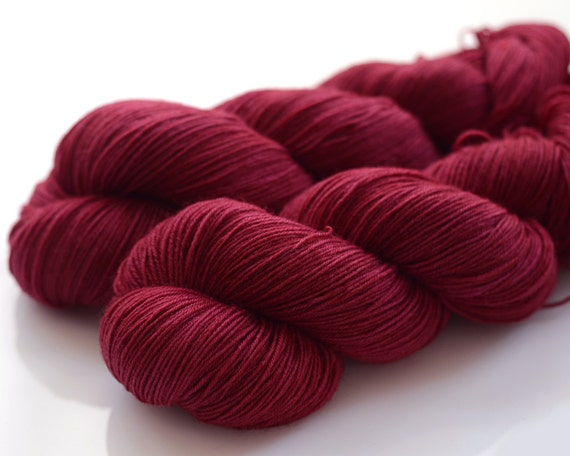 Hand dyed sock yarn - Lingonberry Jam - BFL/nylon