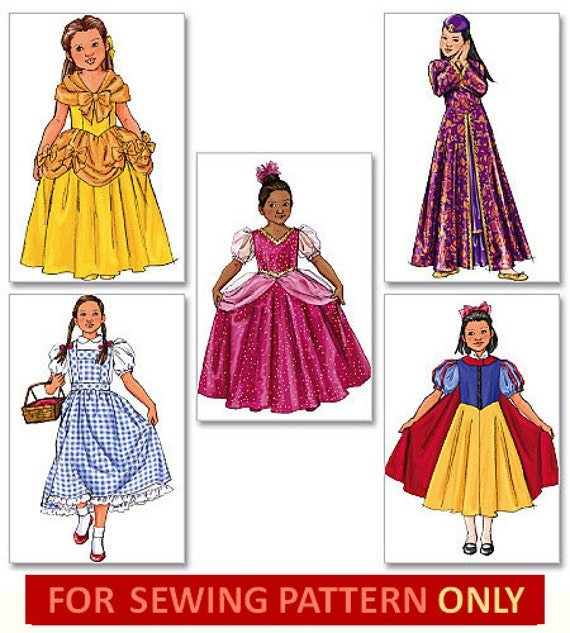 COSTUME SEWING PATTERN Disney Princess / Dorothy by WhatCameFirst