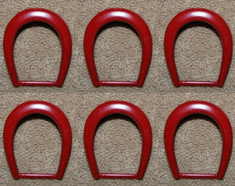 Vintage 6  Red Powder Coated Prong Buckles 35x28mm N2L