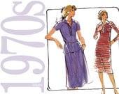 70s Dress Vintage Pattern - B38 - Butterick 5234 - Uncut, Factory Folds