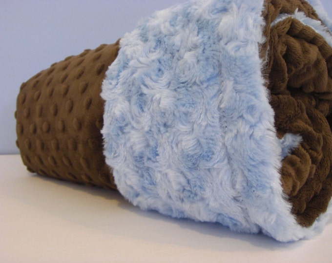 Minky Baby Blanket........ You Choose the Color....Can Be Personalized