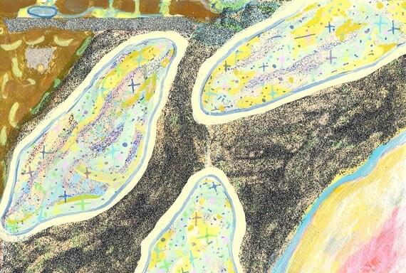 Art Print Intergalactic Icelandic Nebulas within the Glitter Galaxy