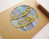 My Lucky Star - Paper Cut Water Color Card