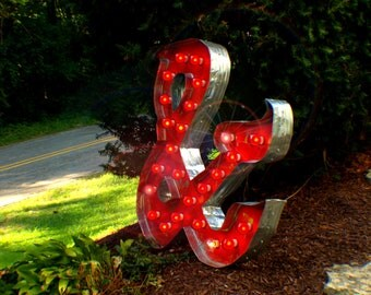 Marquee Letter & Ampersand Vintage Art by Aranacci Fixture 3ft x 3ft