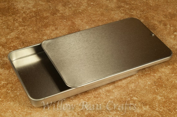 50 Slider Tins Large size, Great Gift Tins for your Pendants and Magnets