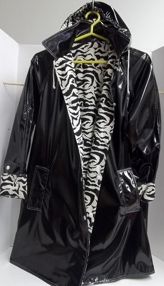 Items Similar To Womens Raincoat With Pvc Vinyl Outer