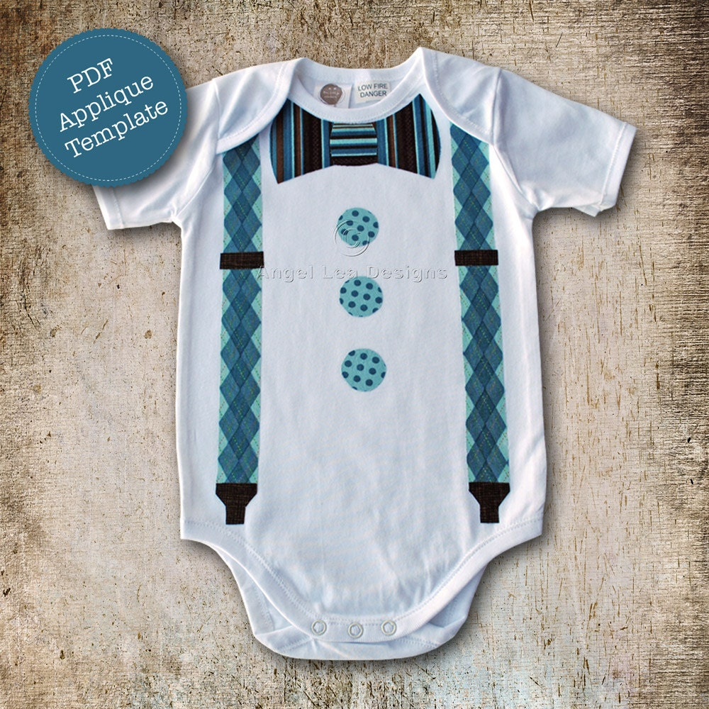 Design your own t shirt infant - Add To Added Bow Tie And Braces Applique Template Diy Make Your Own Appliqued Clothing Pdf Pattern By Angel Lea Designs