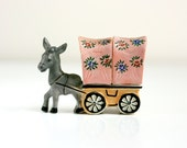 Vintage Donkey and Wagon Salt and Pepper Shakers