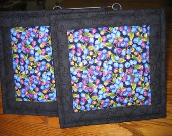 Blueberry Pot Holders - Set of 2