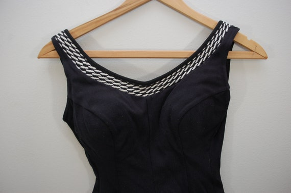 Vintage PENNEY'S Ladies Swimsuit wool one piece USA sz. 38/16