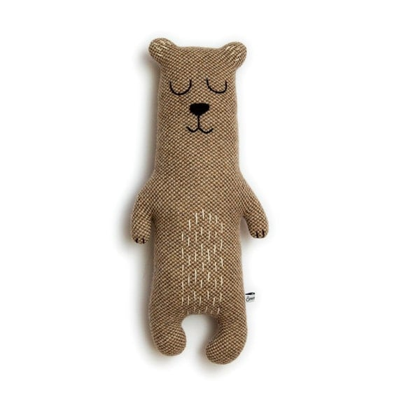 Brian the Bear Knitted Plush Lambswool Toy - Made to order