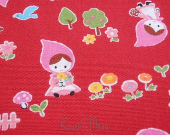 Little Red Riding Hood on Red - Half Yard (12nu0724)